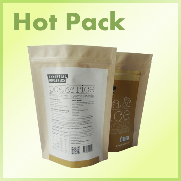 Resealable kraft paper bag
