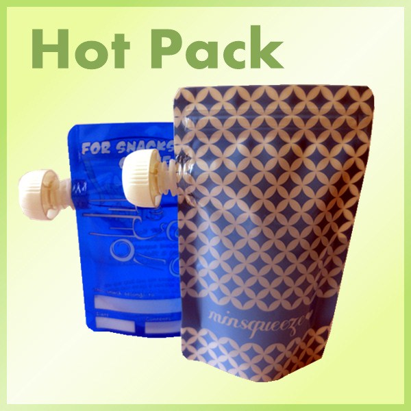 stand up pouch with corner spout