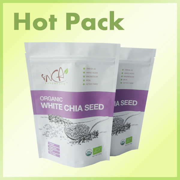 organic chia seeds stand up pouch