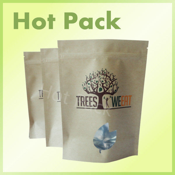 stand up packaging kraft paper ziplock bags