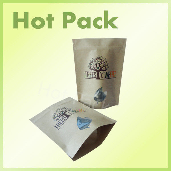 food grade stand up packaging kraft paper ziplock bags
