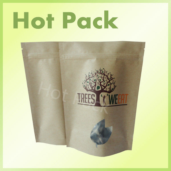 plain resealable kraft paper bags