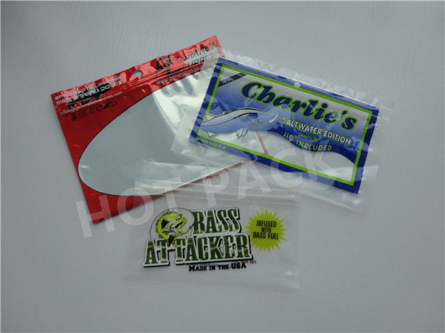 Food Grade Fishing Lure Packaging Pouches With Clear