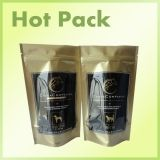 Gold color pet food packing bag