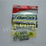 custom printed 3 side sealing foil plastic fishing hook packaging