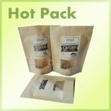 plain brown kraft paper stand up pouchs