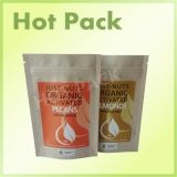 kraft paper stand up zip lock bag with heat seal